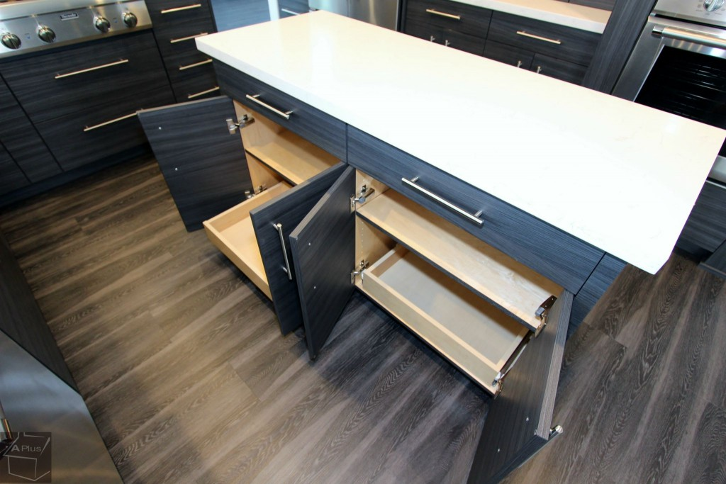 Kitchen island with custom cabinet