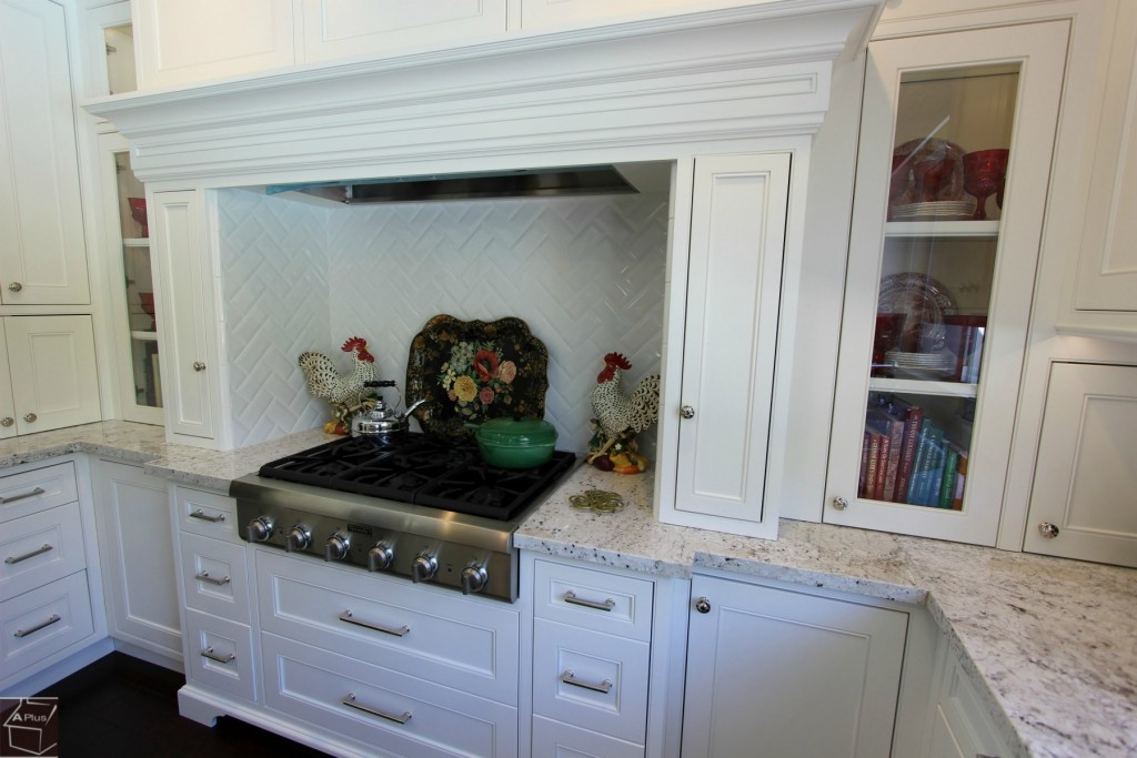 Aliso Viejo White Transitional U-Shaped Kitchen Remodel with Custom White Cabinets