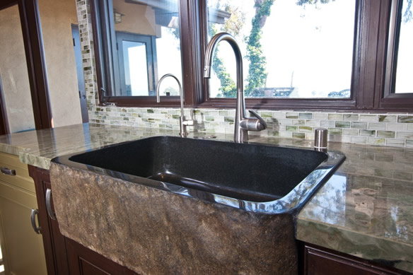 Selecting a custom sink for a kitchen remodel & planning in Laguna Beach Orange County