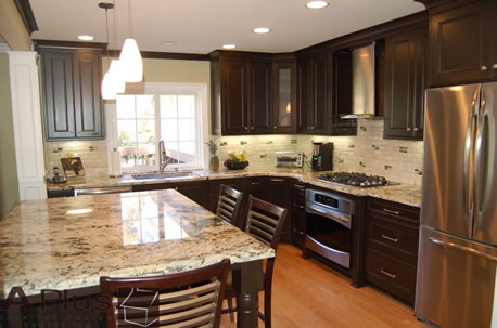 Planning a breakfast area in a kitchen remodel Orange County Irvine