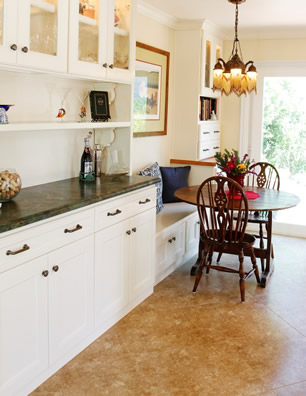 Design & Plan eating area in a kitchen remodel Irvine orange county