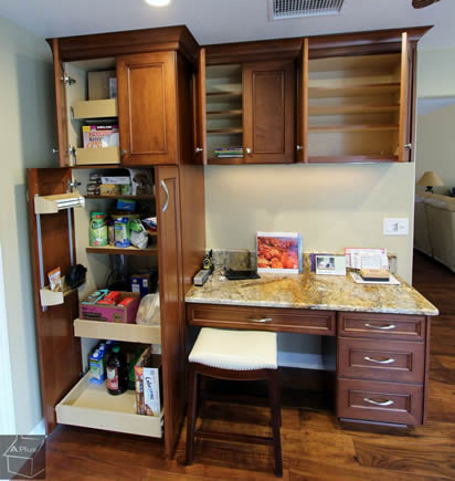 Planning & designing a working office study desk into kitchen remodel