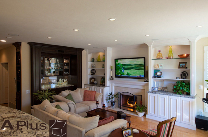 Irvine Entertainment Center by APlus Interior Design & Remodeling