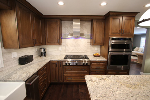 Custom Brown Kitchen in Orange County