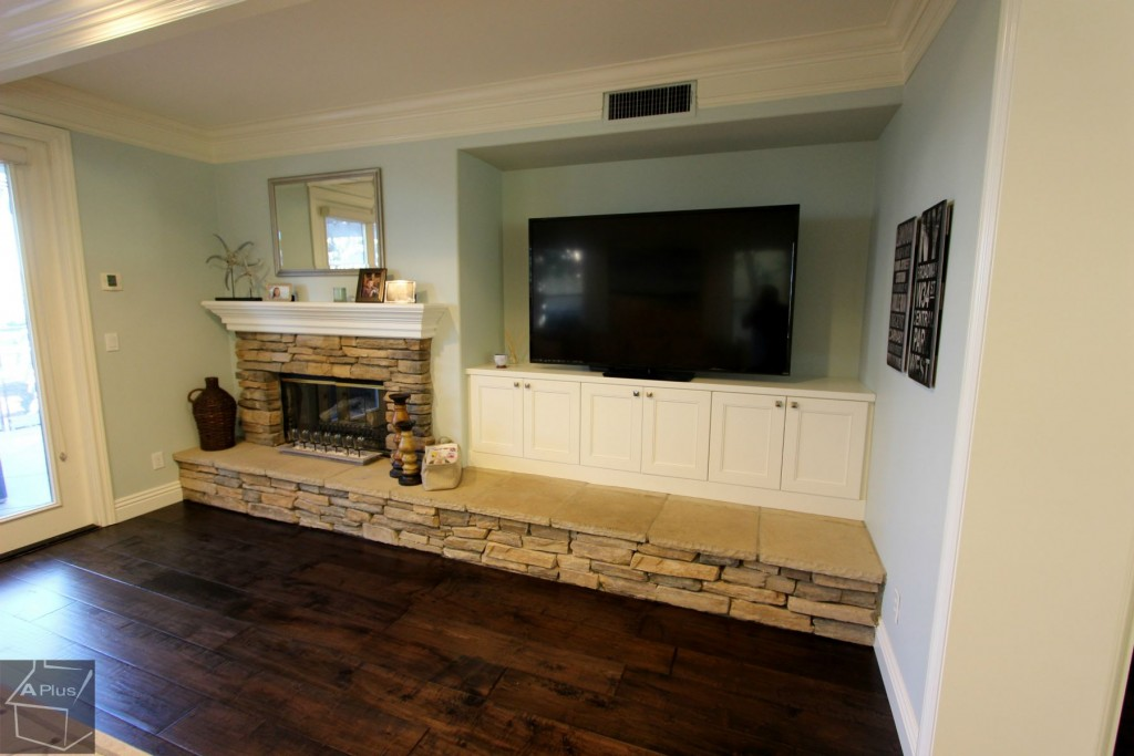Entertainment center with fireplace in San Clemente