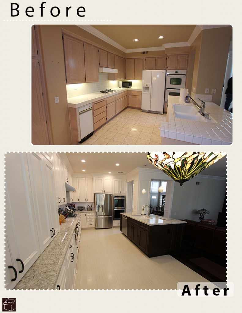 Laguna Hills Transitional White L-Shaped Kitchen & Home Remodel