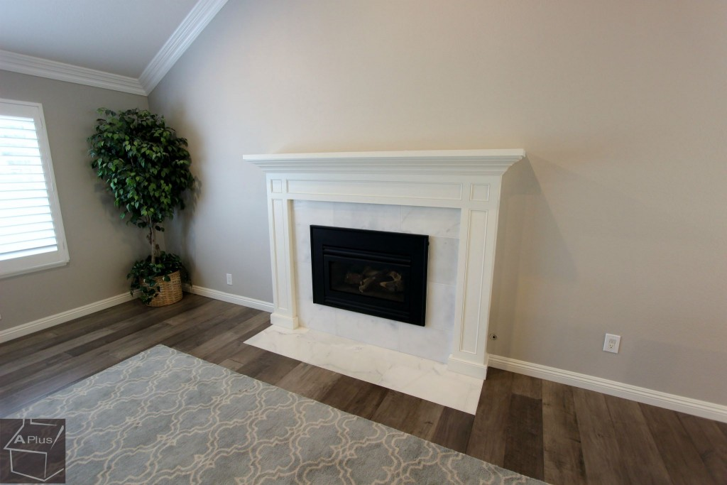 Fireplace in Yorba Linda home