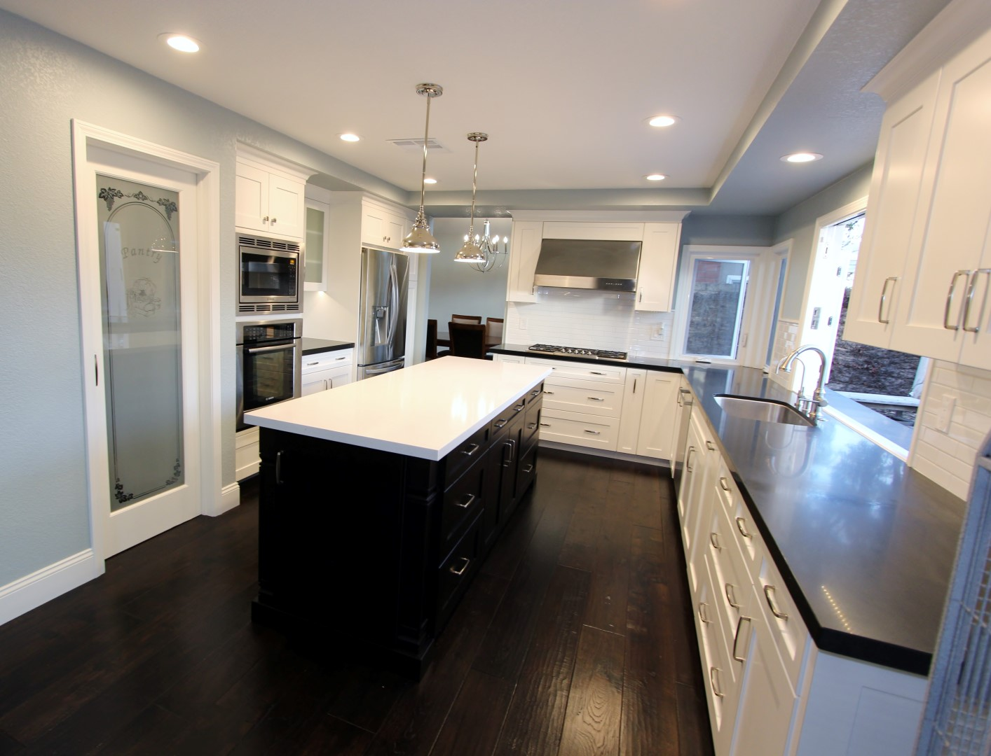 U Shaped Kitchen Home Remodel With Custom Cabinets Irvine