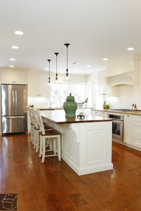 Natural light spacious kitchen design idea orange county