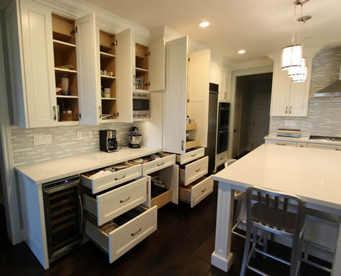 Storage space planning & design in a kitchen remodel San Clemente Orange County