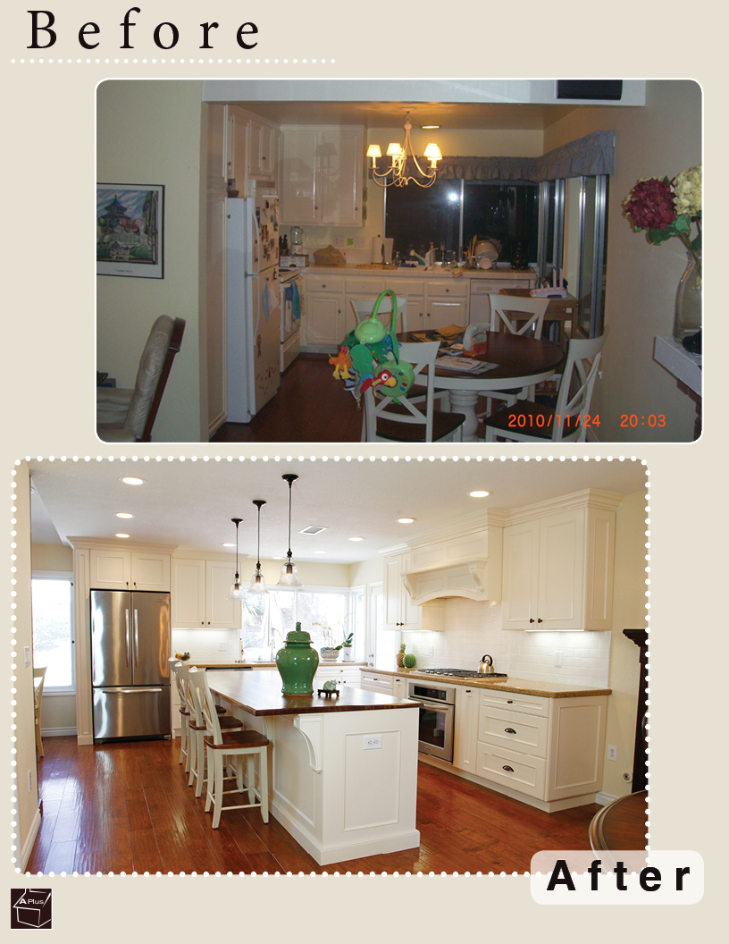 Full Kitchen remodel with custom cabinets & butcher countertop