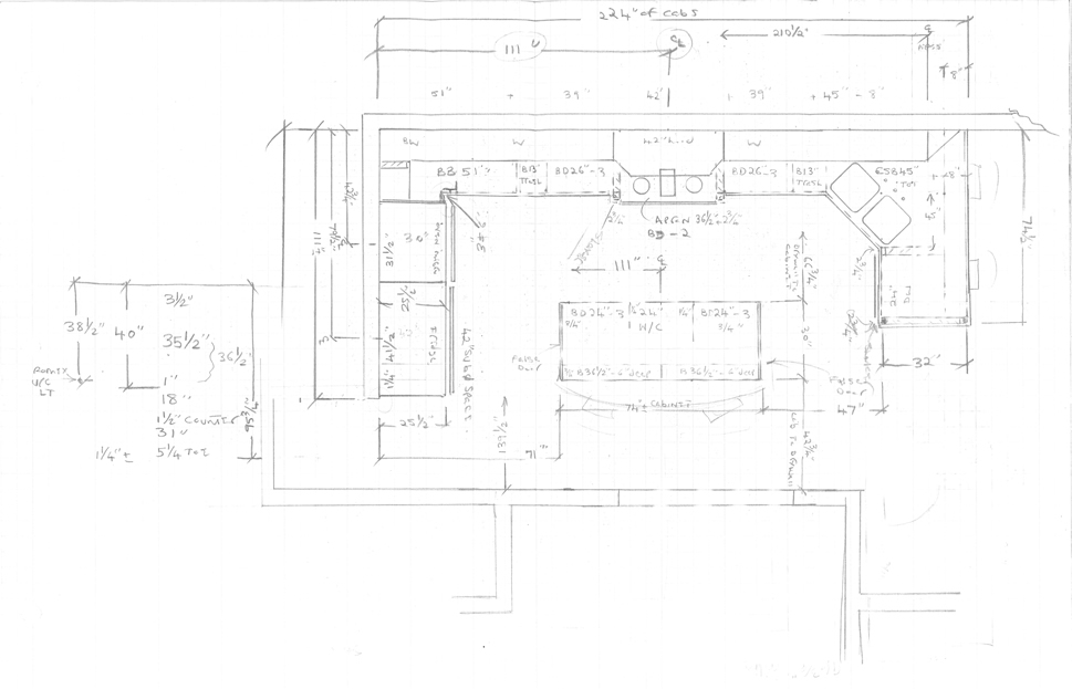 Draft Drawing Kitchen Design Orange County