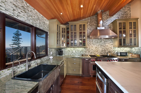 Laguna Beach Kitchen Remodel with Custom Cabinets