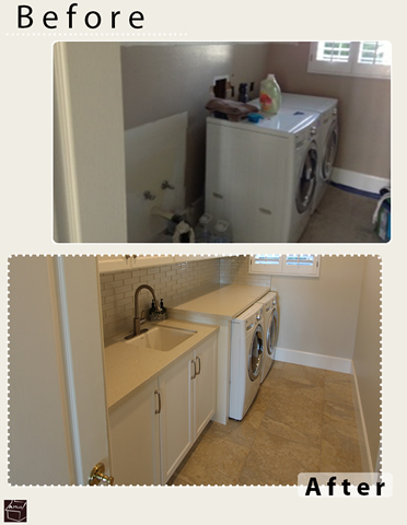 Yorba Linda Custom Renovation of Home with Laundry Room