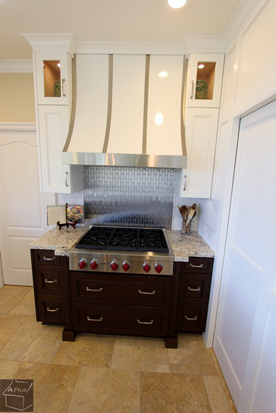 Transitional Style Kitchen Remodel with custom Hood